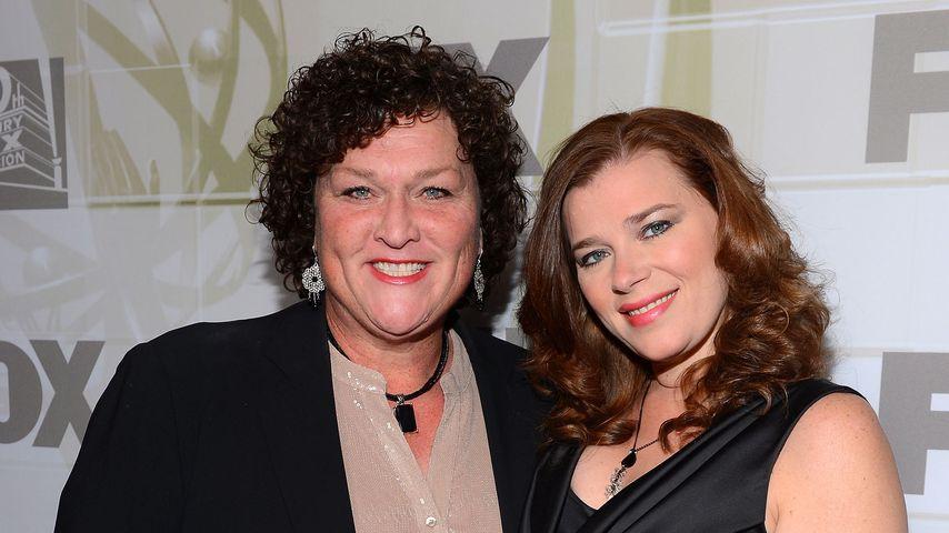 Dot Jones mit ihrer Frau Bridgett im September 2012