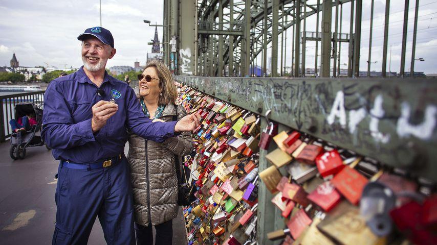Bob und seine Frau Annette auf der Hohenzollernbrücke