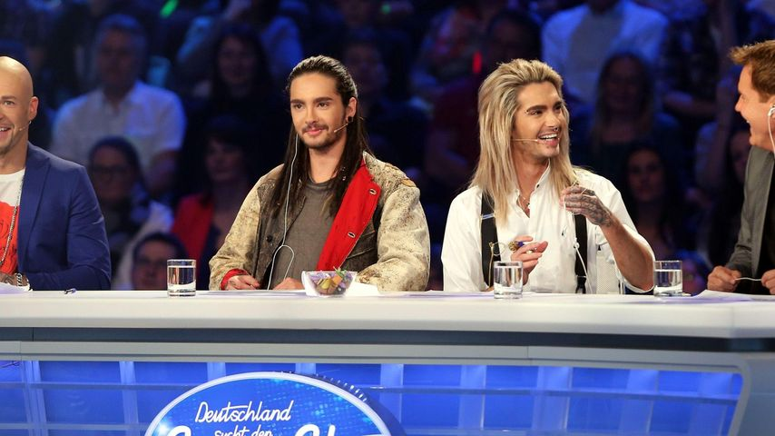In DSDS-Werbung: Bill & Tom von Bodyguards bewacht