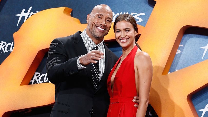"""Dwayne Johnson und Irina Shayk bei der Europa-Premiere zu """"Hercules"""" 2014"""