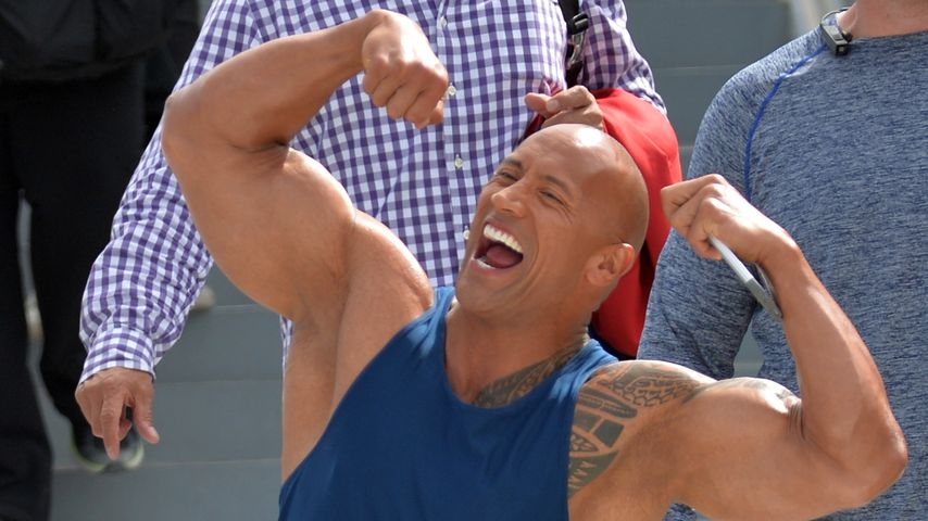 "Dwayne ""The Rock"" Johnson am Set von ""Baywatch"" in Miami"