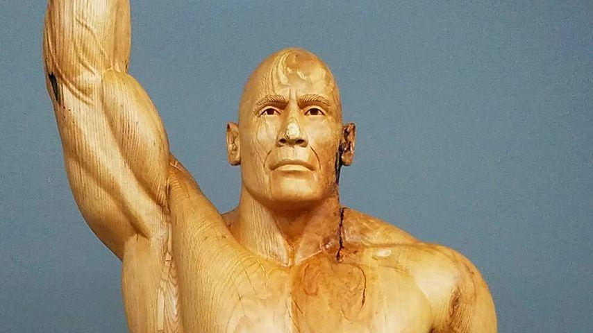 "Dwayne ""The Rock"" Johnson aus Holz"