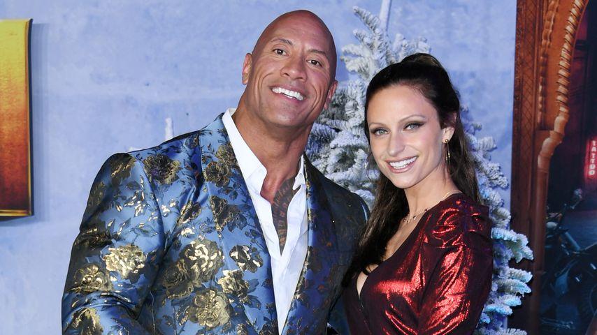 "Dwayne ""The Rock"" Johnson mit seiner Frau Lauren Hashian"