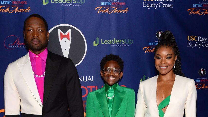 Dwayne Wade, Zaya Wade und Gabrielle Union bei den Truth Awards 2020