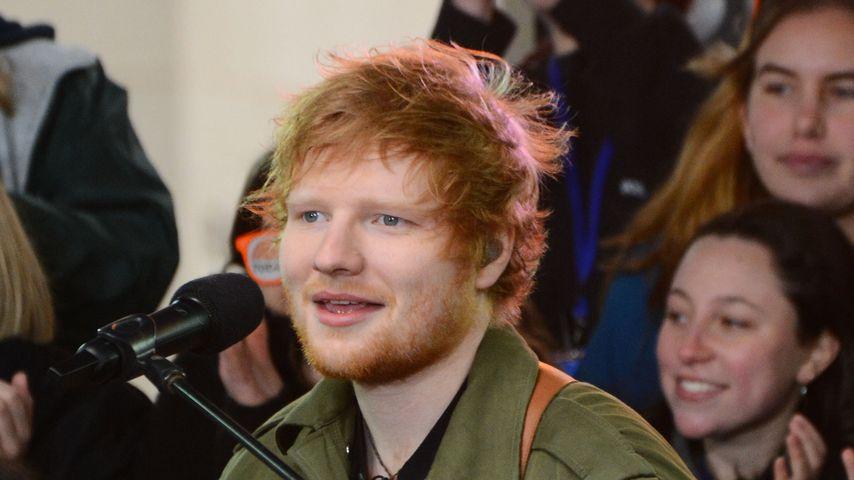 Ed Sheeran bei einem Auftritt in New York