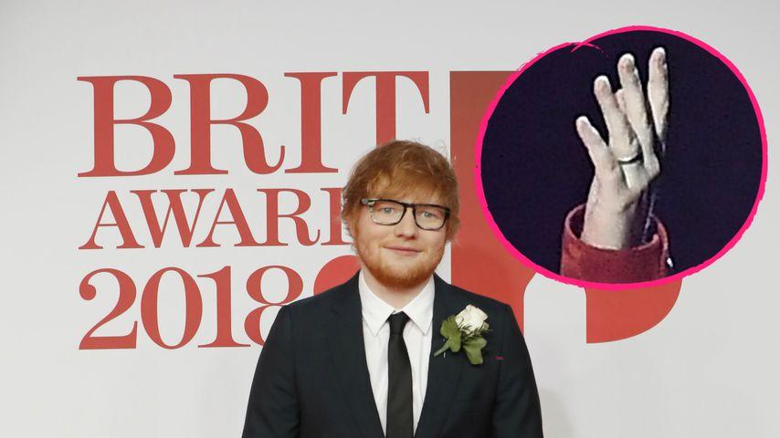 Auffälliger Ring: Ed Sheeran doch schon unter der Haube?