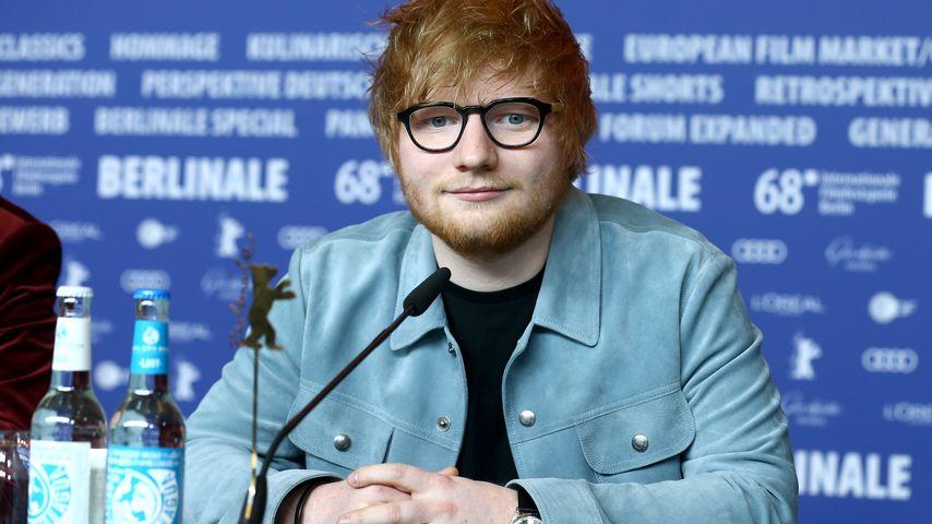 Ed Sheeran auf einer Pressekonferenz in Berlin im Februar 2018