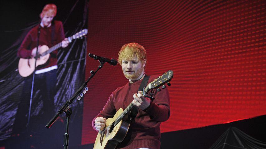 Musiker Ed Sheeran während eines Konzerts in Camden, 2018