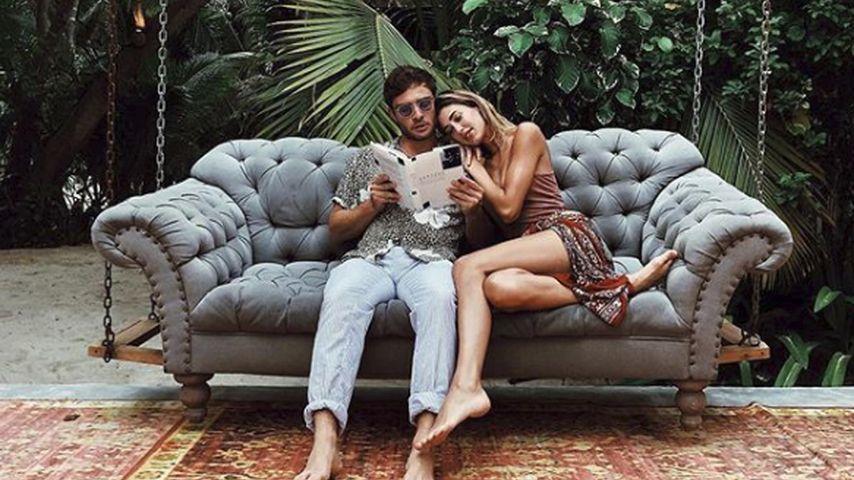 Ed Westwick mit seiner Freundin Jessica Serfaty