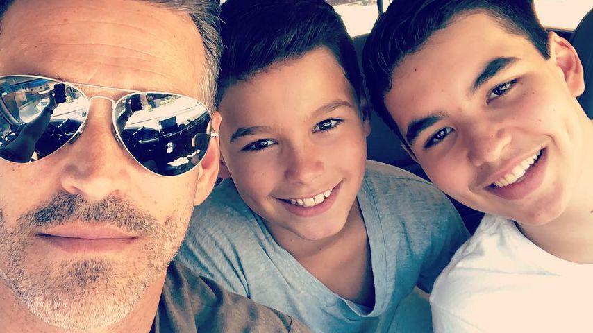 Eddie Cibrian mit seinen Söhnen Jake und Mason