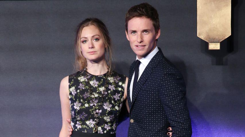 Hannah Bagshawe und Eddie Redmayne im November 2016 bei einer Filmpremiere in London