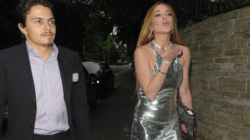 Egor Tarabasov und Lindsay Lohan bei Lilly Beckers Geburtstag