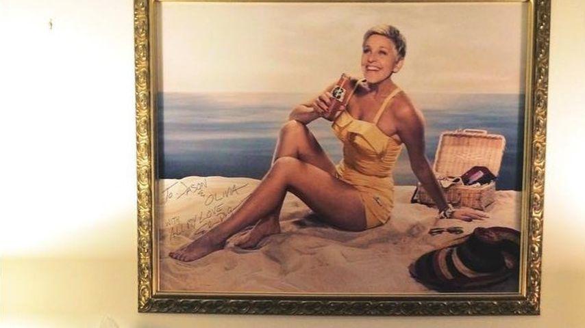 Ellen DeGeneres-Gemälde in Olivia Wildes Schlafzimmer