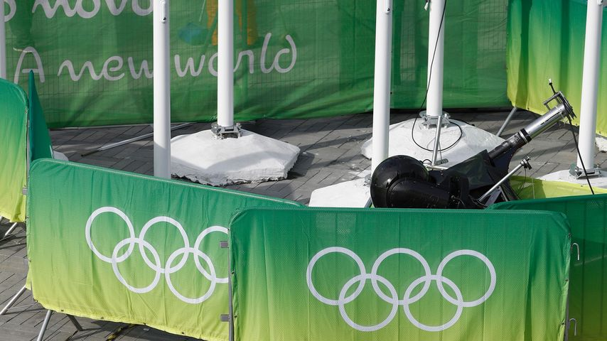 Eine abgestürzte Kamera im Olympia-Park von Rio