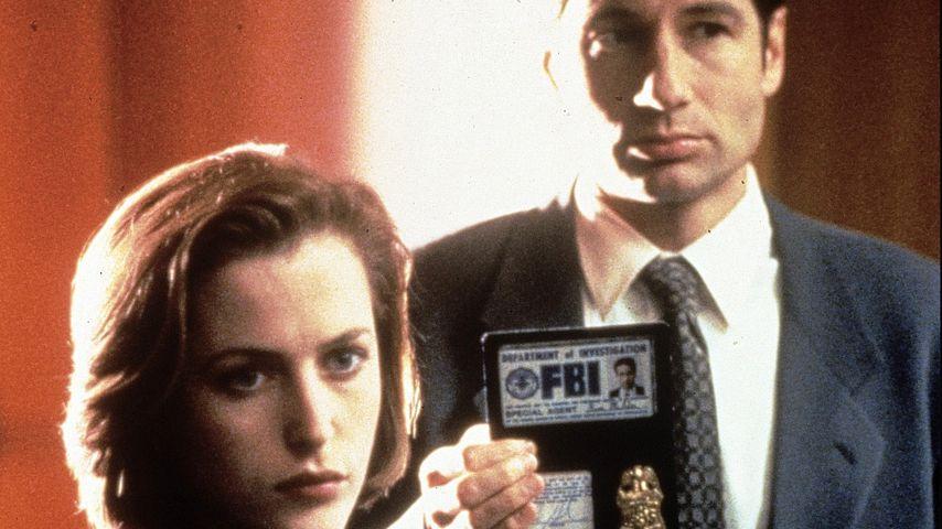 """Gillian Anderson und David Duchovny als Scully und Mulder in """"Akte X"""""""