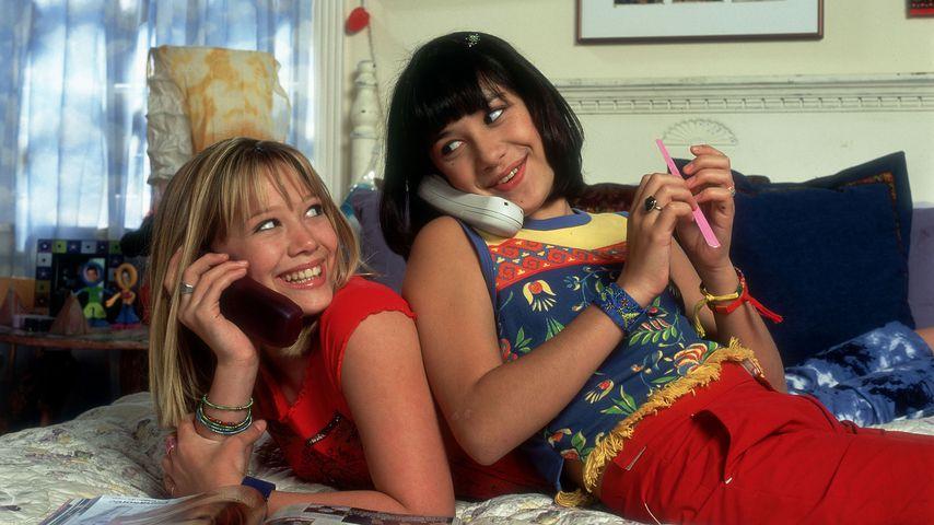 """Eine Szene aus """"Lizzie McGuire"""" mit Hilary Duff und Lalaine"""