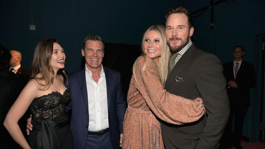 """Elizabeth Olsen, Josh Brolin, Gwyneth Paltrow und Chris Pratt, """"Avengers""""-Kollegen"""