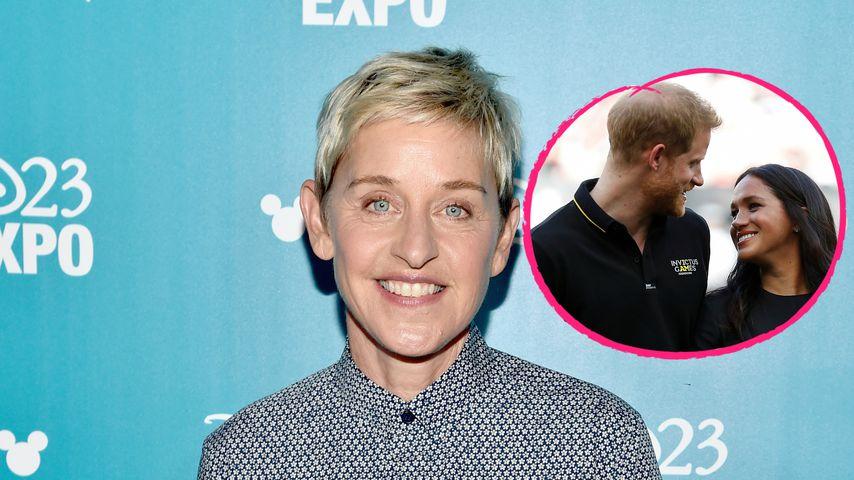 Ellen DeGeneres verteidigt Harry und Meghan nach Flug-Hate