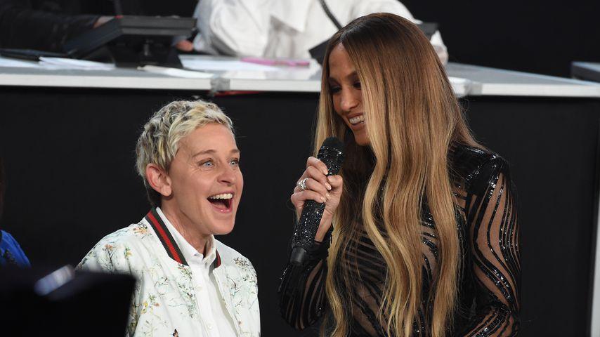 Ellen DeGeneres und Jennifer Lopez im Oktober 2017