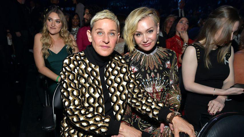 Zu verrückt? Ellen DeGeneres und Portia im wilden Paar-Look!