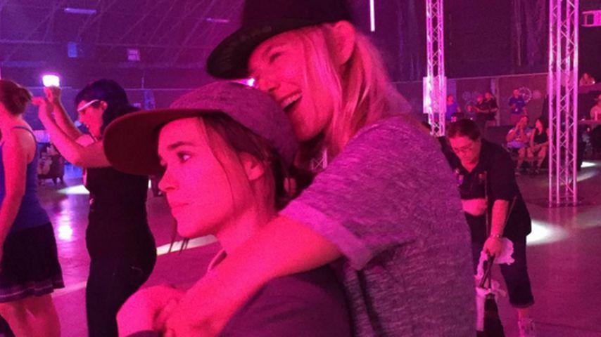Schmuse-Foto: So sieht Liebe bei Ellen Page aus!