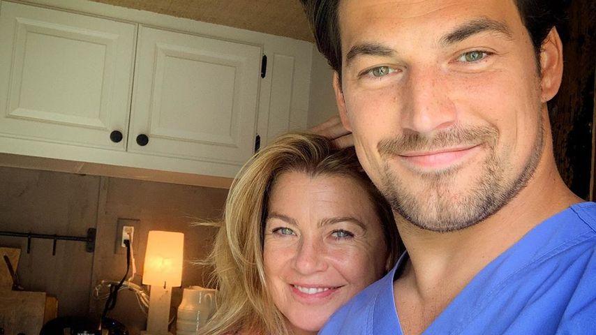 """Ellen Pompeo und Giacomo Gianniotti am Set von """"Grey's Anatomy"""" 2019"""