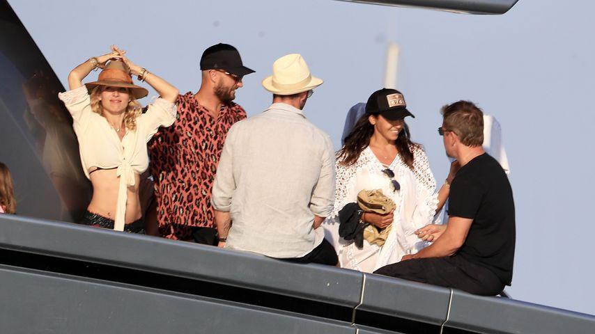 Elsa Pataky, Chris Hemsworth, Luciana Barroso und Matt Damon auf Ibiza