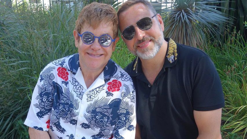 Elton John und David Furnish in Frankreich