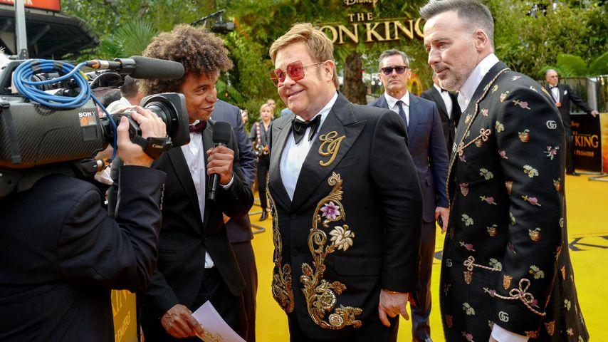 Wegen Elton Johns Fame: Partner David wurde Alkoholiker