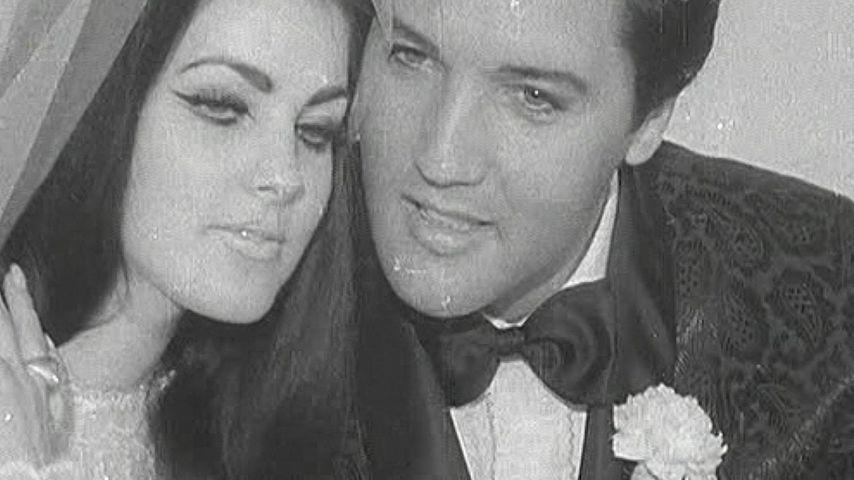 Priscilla und Elvis Presley bei ihrer Hochzeit 1967