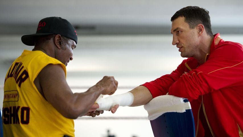 Emanuel Steward und Wladimir Klitschko vor dem Training