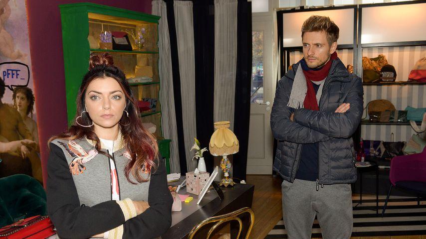 """Emily (Anne Menden) und Philip (Jörn Schlönvoigt) bei """"Gute Zeiten, schlechte Zeiten"""""""
