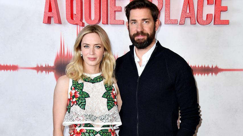 "Emily Blunt and John Krasinski bei der ""A Quiet Place""-Premiere in London"