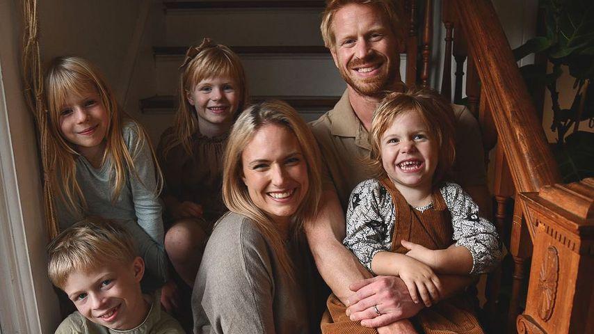 Emily Mitchell mit ihrer Familie