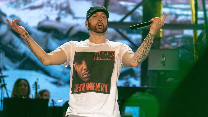 Eminem auf dem Bonnaroo Music and Arts Festival in Tennessee, 2018
