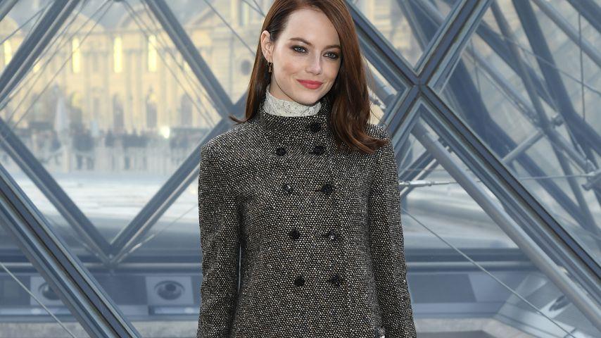 Emma Stone auf der Fashion Week in Paris im März 2019