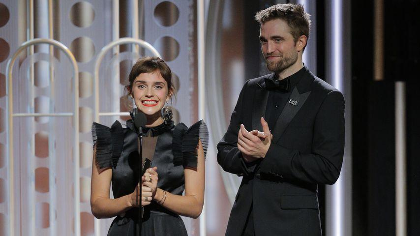 Emma Watson und Robert Pattinson bei den Golden Globes 2017