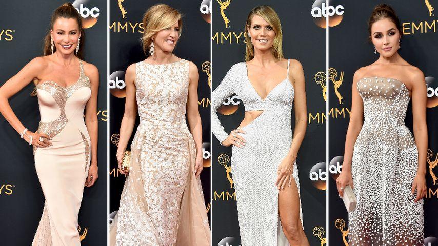 Schlichte Eleganz! Bei den Emmys setzen die Damen auf Nude