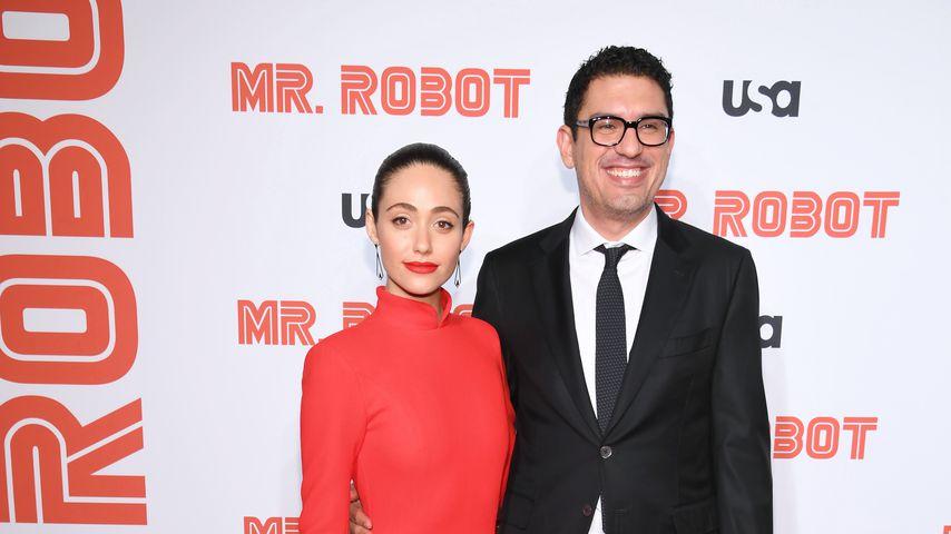 Emmy Rossum und ihr Mann Sam Esmail im Oktober 2019 in New York City