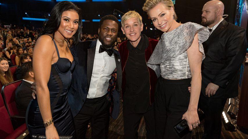 Eniko und Kevin Hart mit Ellen DeGeneres und Portia de Rossi