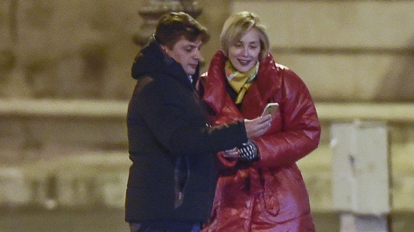 Enzo Cursio und Sharon Stone in Rom