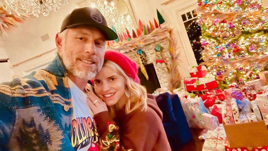 Eric Johnson und Jessica Simpson
