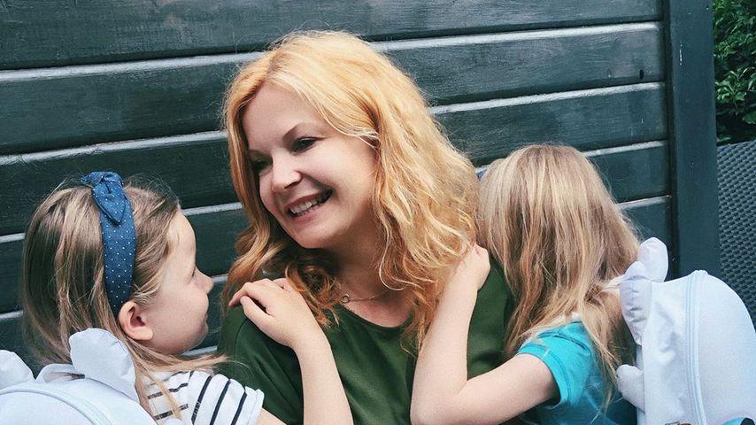 Eva Imhof mit ihren Kindern Luisa und Lilly