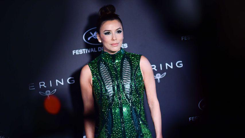 Eva Longoria mit fast durchsichtigem Kleid bei Dinner-Event