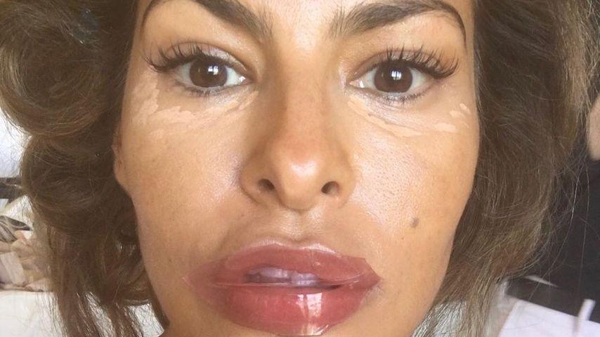 Etwa Lippen aufgespritzt? Eva Mendes' Mund verdächtig groß!