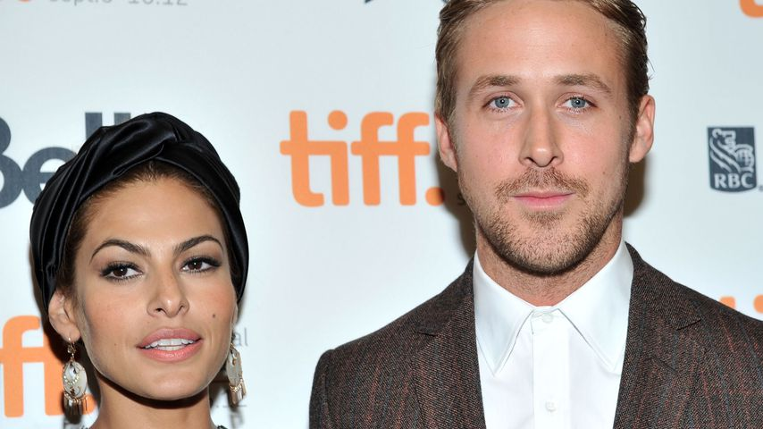 Eva Mendes und Ryan Gosling beim Toronto International Film Festival 2012