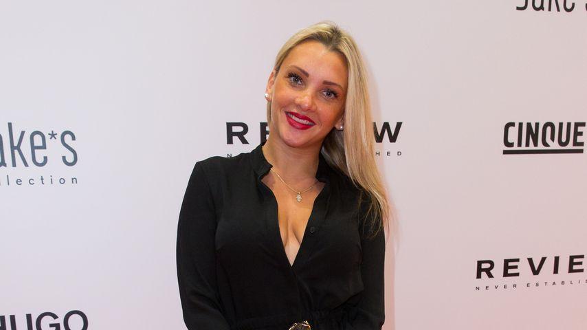 Evelyn Burdecki bei einer Fashionshow