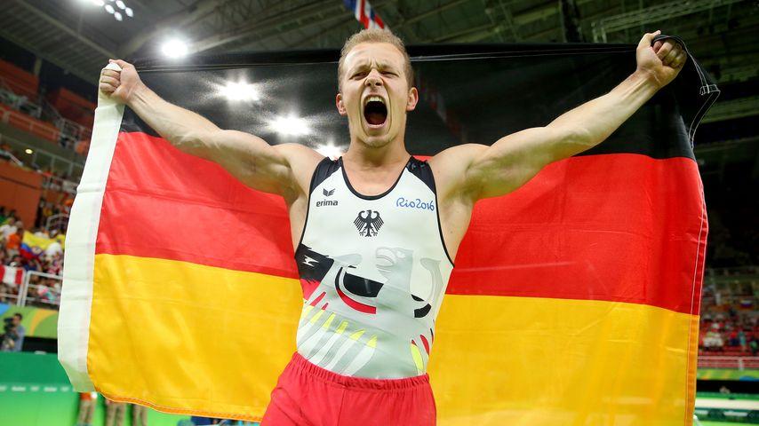 Fabian Hambüchen nach seinem Gold-Gewinn in Rio 2016
