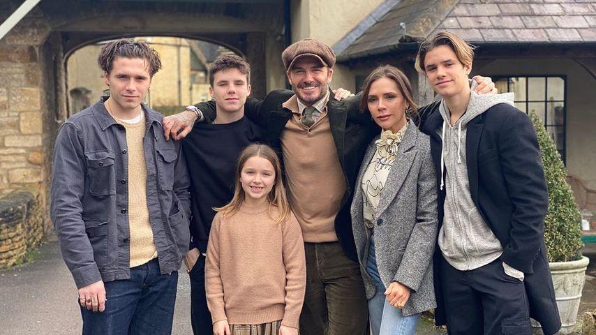 Familie Beckham im Januar 2020