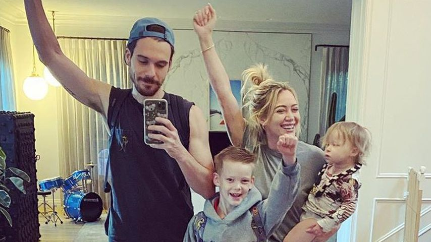 Hilary Duff und Ehemann Matthew Koma mit ihren Kindern